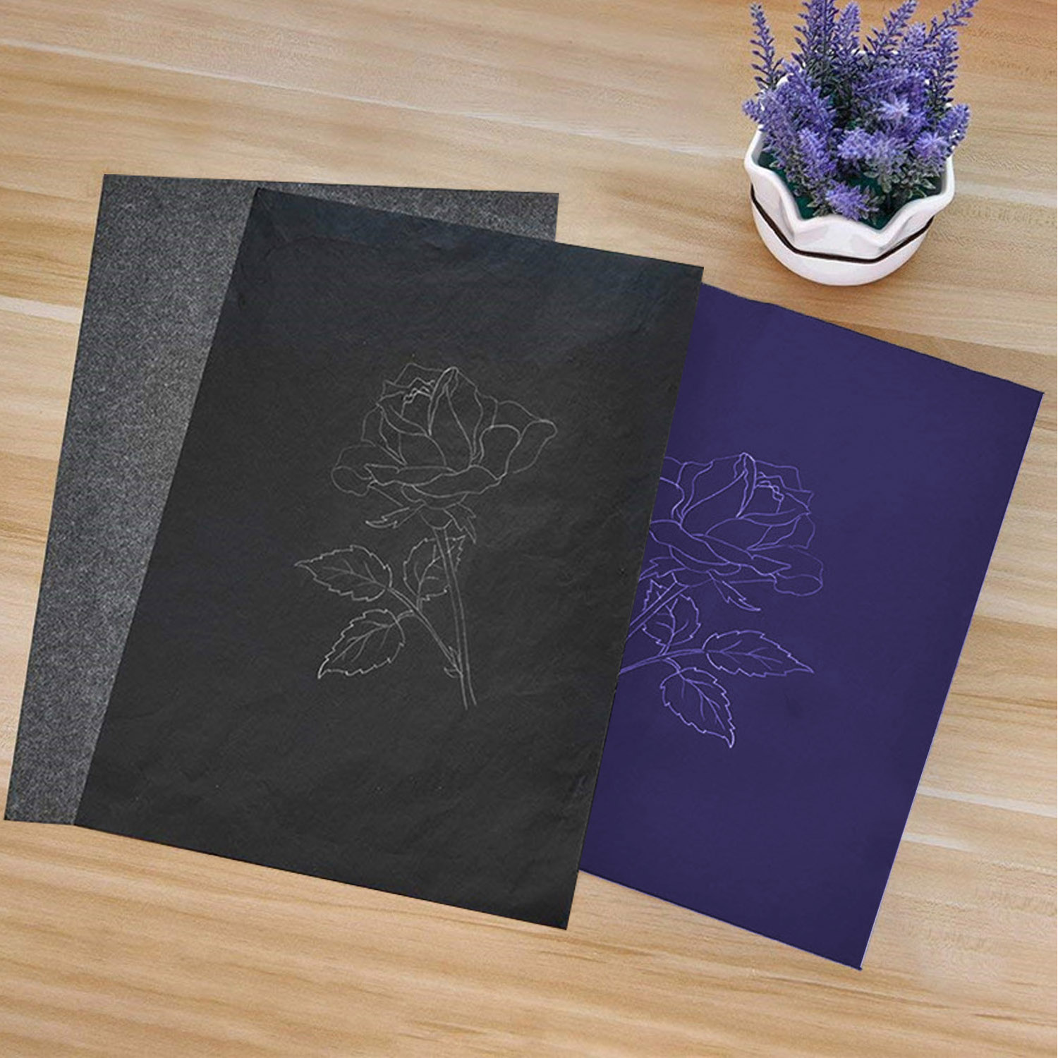 100 Sheet A4 Size Reusable Carbon Tracing Transfer Paper For Office School Home Canvas Wood Glass Metal Ceramic