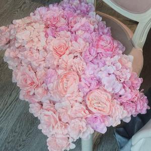 40x60 см искусственные цветы на стену свадебное украшение цветы коврики Роза поддельные цветы Гортензия свадебное панно цветы