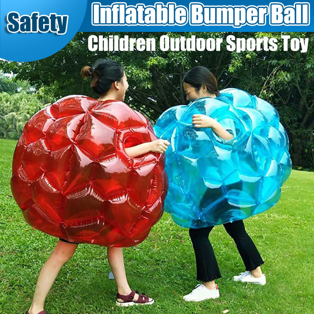 New Children' Expansion Sports Inflatable Bumper Ball, Parent-Child Interactive Team Inflatable Collision Ball Outdoor Fun Game