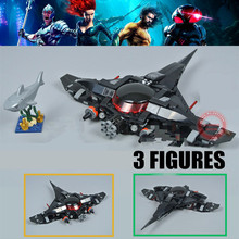 New Black Manta Fight Dc Super Heroes Airship Aquaman Justic League Fit 76095 Figures Building Block Brick Toy Kid Gift Birthday new dc wonder woman super hero girl high school model building block brick toy 41232 wonder woman compatible legoes gift kid set