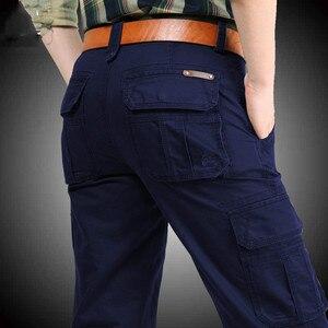 Image 4 - Nuovi Pantaloni Cargo Degli Uomini Multi tasche Pantaloni Larghi Pantaloni Da Uomo Militare Casual Tute E Salopette Army Pantaloni Pantaloni Pantaloni Più Il Formato 40 42 44 di cotone