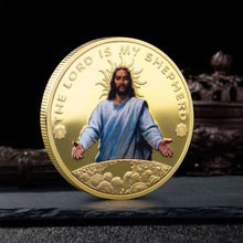 Jesus Christ Religion Gold Silver Plated Commemorative Coin Collection Souvenir Challenge Gift D04 20 Dropship