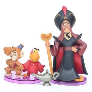 Image 3 - Figuras de acción de la princesa Aladdín de Disney, figuras de PVC de Jasmine, Genie, garar, regalo de Navidad para chico
