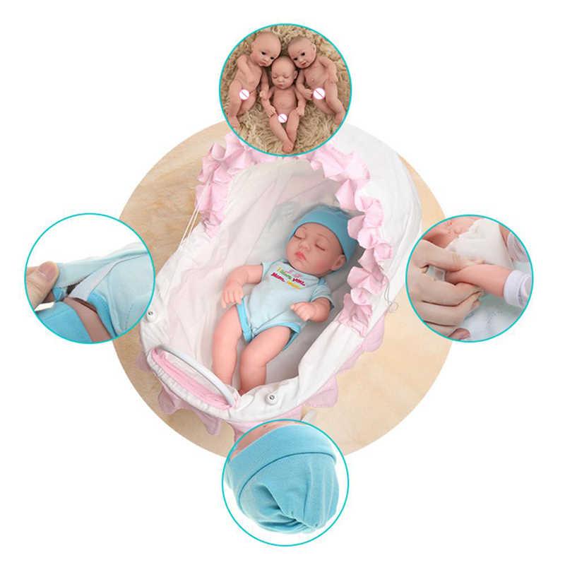 30CM Reborn Bebe Boneka Full Body Silikon Lembut Tubuh Bayi Boneka Aksesoris Pakaian Anak Mainan Dicuci Anak Laki-laki Anak Perempuan Terlahir Kembali boneka Mainan