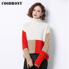 Coodrony Новый Зимний Элегантный стильный тонкий пуловер свитер