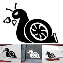 1Pc Car Stickers 3D Turbo Snail Cool Decals Auto Vinyl Accessories Anti-Scratch Waterproof Black/Silver