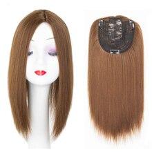 Vrouwen Haar Topper Stuk Synthetisch Haar 3 Clips In Een Stuk Hair Extension Lange Rechte Hoge Temperatuur Fiber