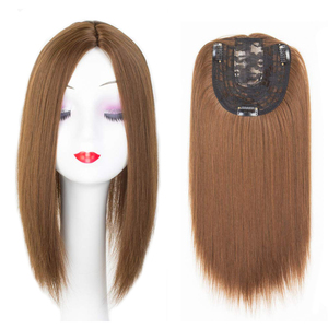 Image 1 - Women Hair Topper Piece Synthetic Hair 3 Clips In one piece Hair Extension long straight High Temperature Fiber