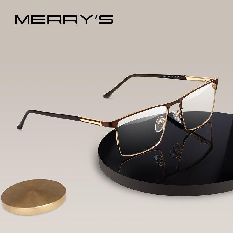 MERRYS DESIGN Men Square Alloy Glasses Frame Male Luxury Optical Business Style Myopia Prescription Hyperopia Eyeglasses S2052