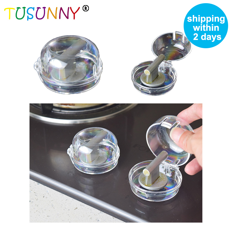 TUSUNNY 2pcs  Baby Safety Kitchen Oven Stove Cover Gas Control Switch Gas Stove Knob Cover For Child Safety