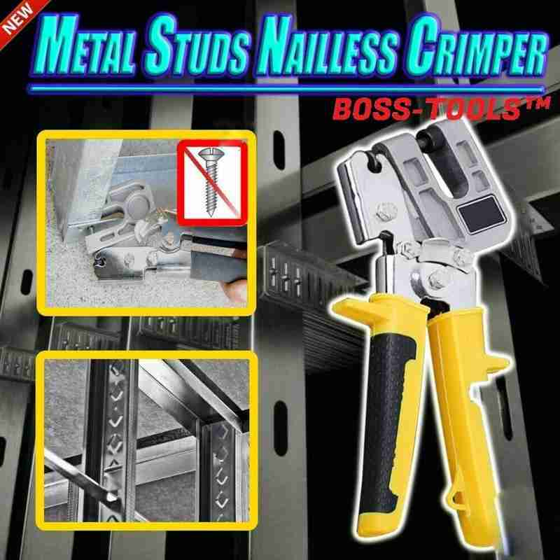 Metal Keel Clamp Ceiling Keel Riveting Clamp Industrial Studs Decorative Nailless Crimper Plier Plaster Board Drywall Fastening