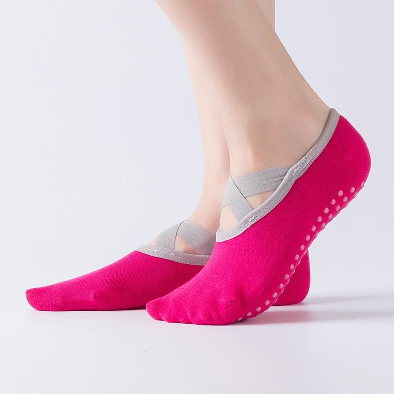 Женские Дышащие нескользящие носки для йоги, силиконовые Нескользящие дышащие спортивные танцевальные носки для пилатеса, Барре, хлопковые носки|Носки для йоги|   | АлиЭкспресс