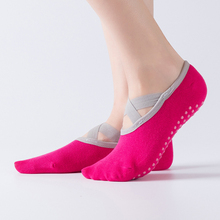 Women Breathable Anti-friction Women Yoga Socks Silicone Non Slip Pilates Barre Breathable Sports Dance Socks Cotton Socks