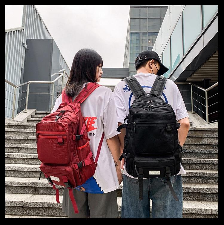 Large Capacity Men Backpack Women School Bags For Teenage Girls Boys Casual Travel Bagpack Oxford Solid College School Back Pack