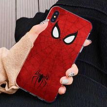 Voor Iphone 11 Pro 4 4S 5 5S Se 5C 6 6S 7 8X10 Xr xs Plus Max Voor Ipod Touch Verbazingwekkende Super Hero Spider-Man Logo Soft Shell Case(China)