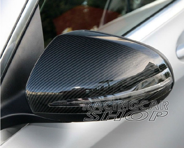 Real Carbon Fiber Mirror Covers 1pair For Mercedes-Benz W205 C-Class 2014UP  M104M 2