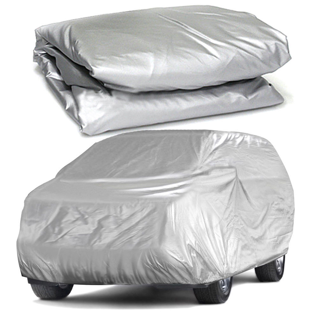 ZAQ Car Cover Sedan Cover Waterproof Protection Full Car Covers Outdoor Fits Sedan Sliver Size : 3M