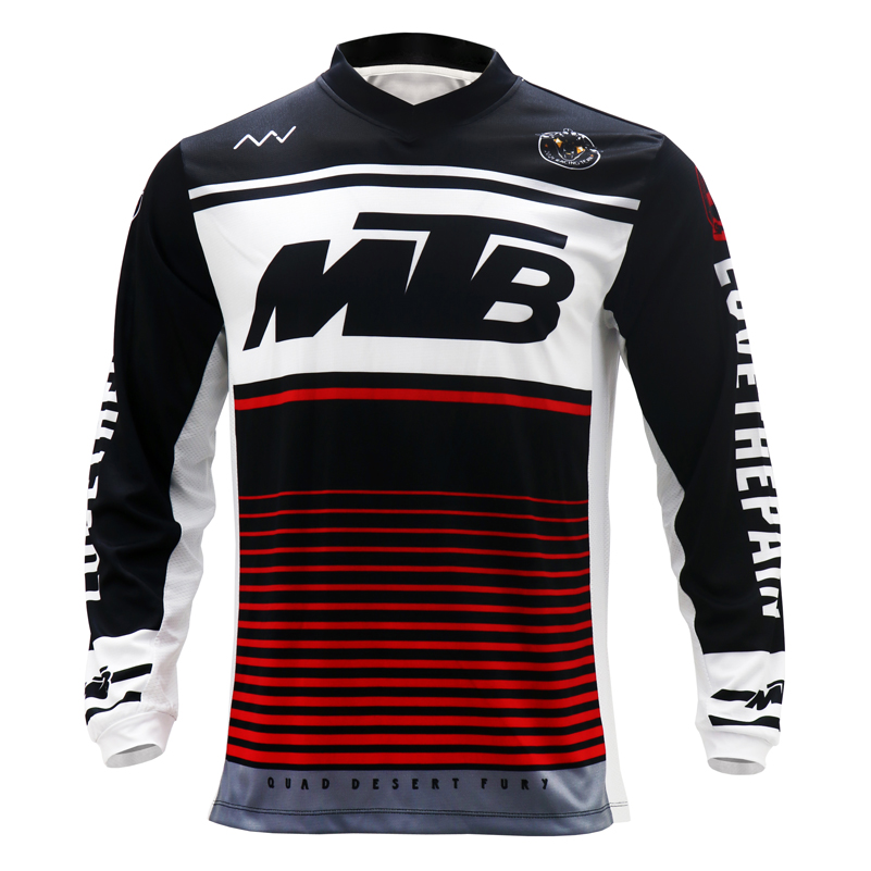 Man Fitness Training Breathable Clothing For Mountain Biking Cycling Jersey Motorcycle Racing MTB RPET Long Sleeve