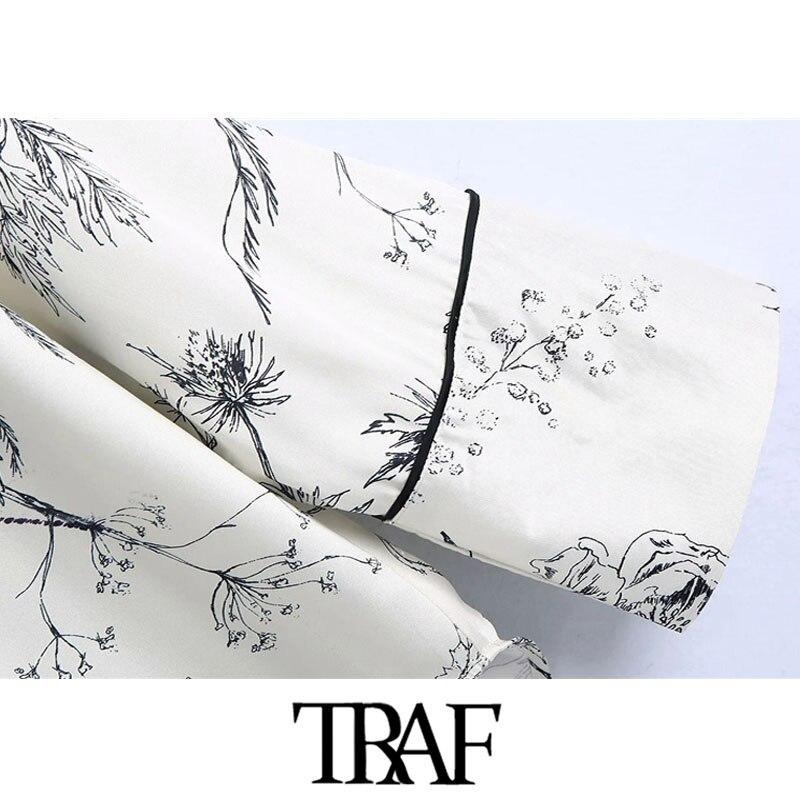 traf moda feminina floral impressao solto assimetrico 04