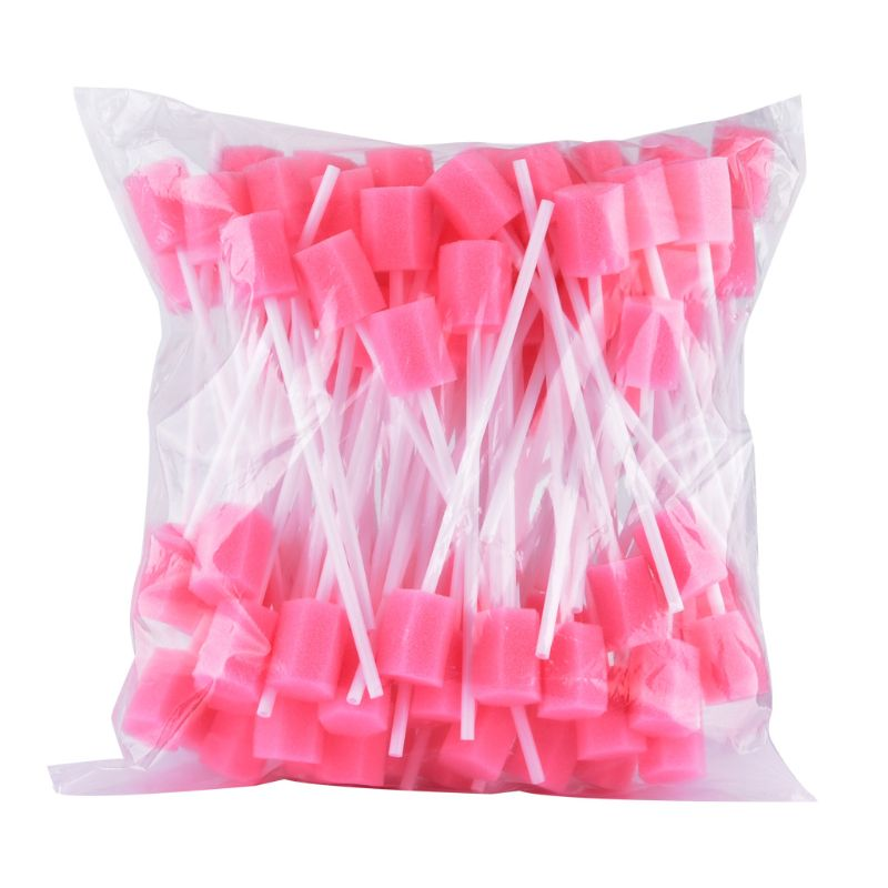 10Pcs/Set Disposable Oral Care Spong Swabs Unflavored Sterile Dental Swabsticks NEW