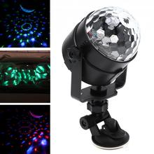 3W Colorful USB 5V LED Crystal Magic Rotating Ball Stage Light with Sound Control Crystal Magic Rotating for Car KTV Party Disco photograph crystal light crystal halo optical glass lens 1 4 screw for tripod holding vlog magic ball light accessory