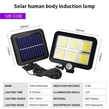 120 LED Solar Wall Light Outdoors Solar Garden Light Waterproof PIR Motion Sensor Wall Lamp Spotlights Emergency Street Lamp