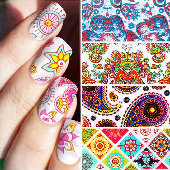BELESHINY 8psc nail art Stickers 3d Beauty Christmas Sticker for Nails snowflake Nail Art Charms Manicure Decal Decorations in Stickers Decals from Beauty Health