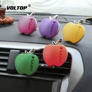 Image 2 - Apple Shape Air Freshener Perfume Car Accessories for Girls Car Air Vent Essential Oil Car Diffuser Smell Decoration for Girl