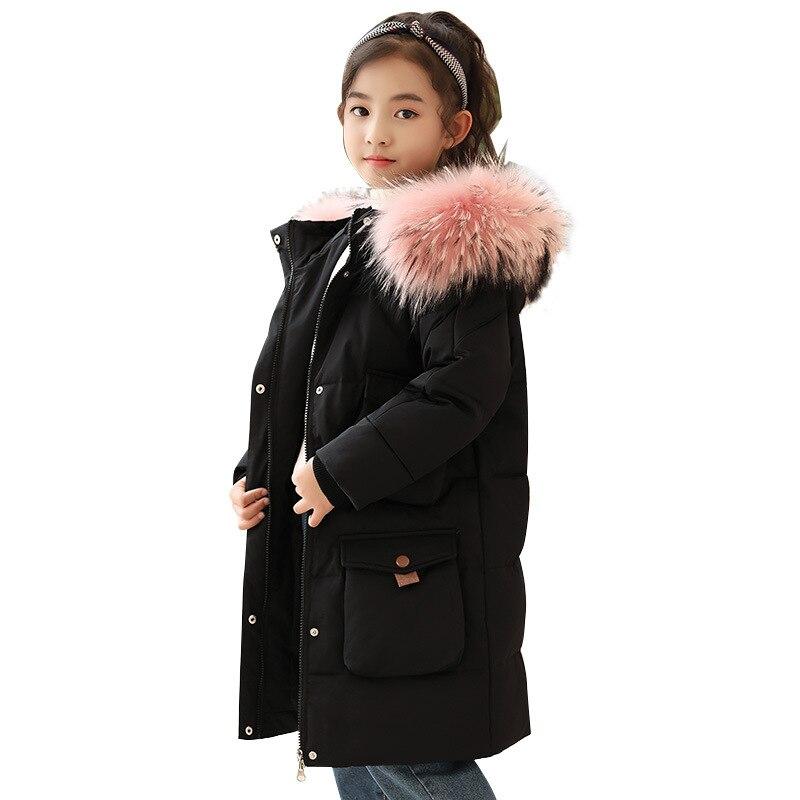 -30 degrés enfants vestes d'hiver pour les filles vêtements enfants Parka chaud épaissir manteau adolescents fille vêtements de sortie d'hiver manteaux