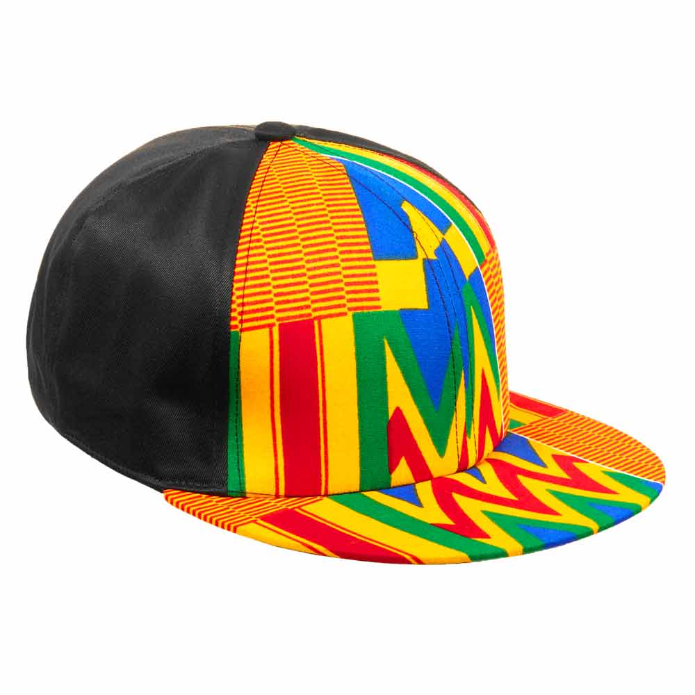Shenbolen African Cap Fashion Ankara Print Hat Custom Logo Brand Printing Ankara Print Mesh Cap Snapback Hat Wholesale