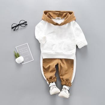 LZH odzież niemowlęca 2021 ubrania jesienno-wiosenne dla noworodka zestaw ubrań dla chłopców bluza z kapturem + spodnie 2 szt Strój dziecięcy kostium dziecięcy tanie i dobre opinie COTTON Poliester W wieku 0-6m 7-12m 13-24m CN (pochodzenie) Unisex Moda Zestawy Swetry Pełna REGULAR Pasuje prawda na wymiar weź swój normalny rozmiar