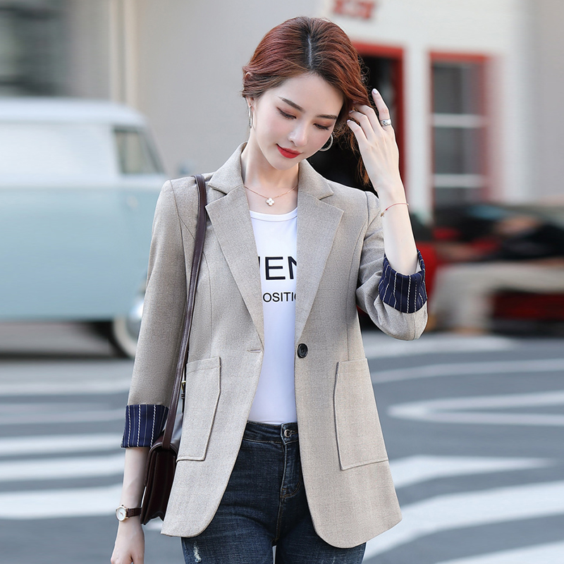 Plus size S-4XL fashion ladies jacket high quality 2020 new autumn and winter women's casual big pocket office ladies blazer