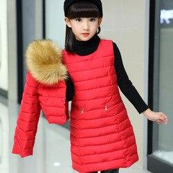 Хлопковая одежда для девочек; комплект из двух предметов; зимнее платье средней длины; костюм для детей; куртки для девочек; Верхняя одежда д...