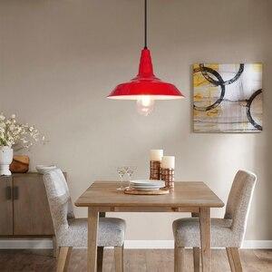 Image 5 - Artpad norte da europa ferro luz pingente industrial do vintage sala de jantar cozinha barra estudo hotel luminárias led branco preto