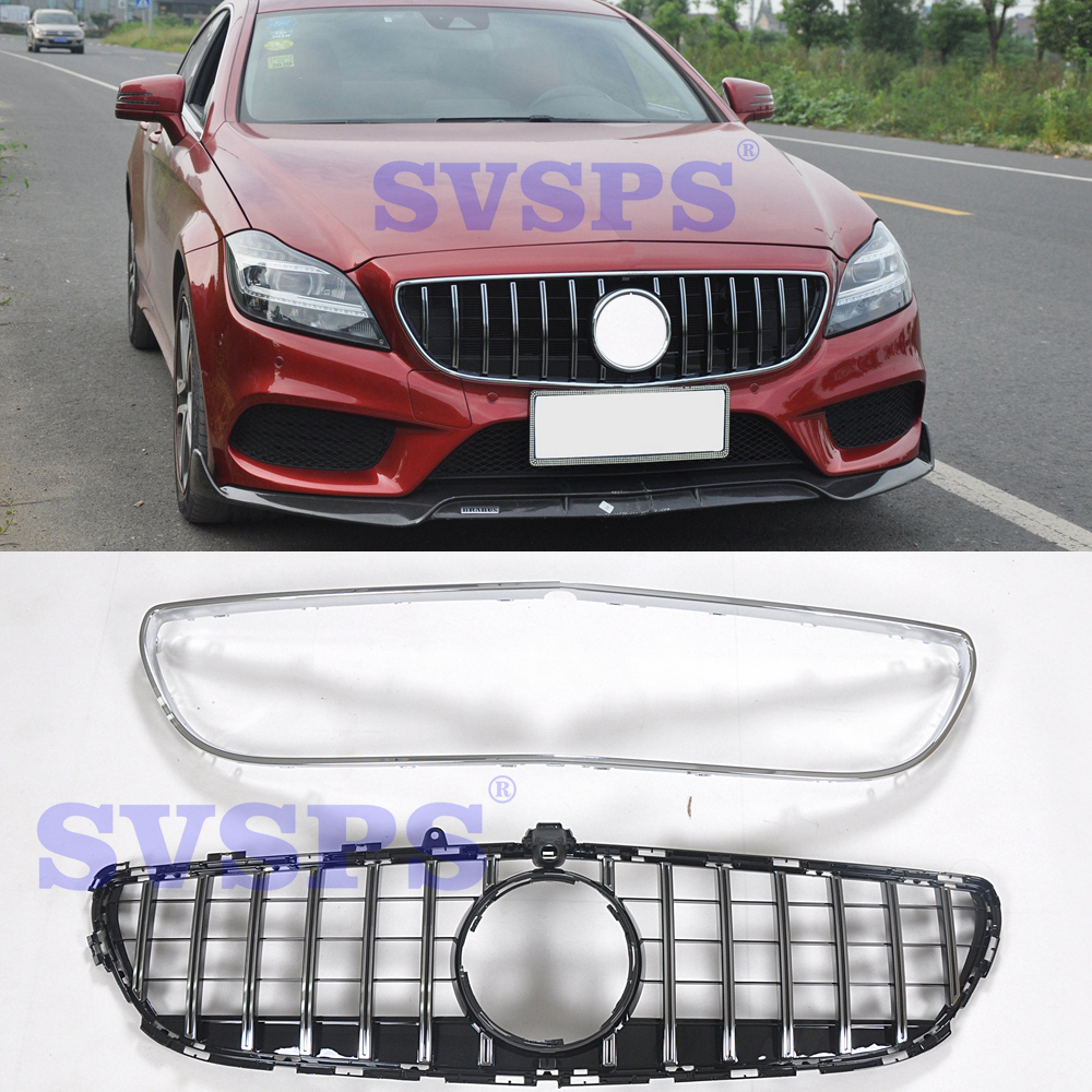 High quality Tuning parts Front Middle abs GT stryle Grille <font><b>Grill</b></font> Fit for Mercedes Benz CLS class <font><b>W218</b></font> 2014-2017 CLS320 260 400 image