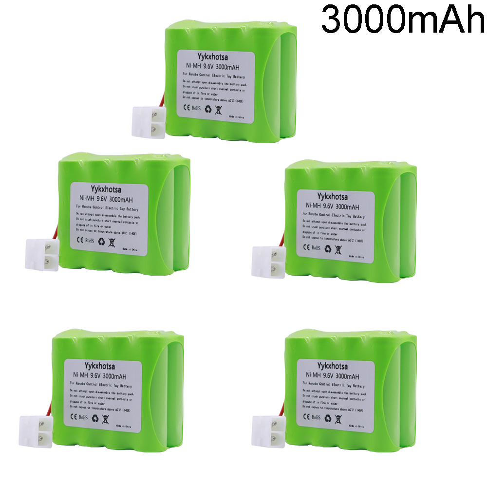 3000mAh 9.6v NIMH Battery pack For Rc toys Cars Tanks Trains Gun <font><b>Ni</b></font>-<font><b>MH</b></font> <font><b>AA</b></font> 9.6 <font><b>V</b></font> high capacity Battery For rc boats <font><b>1</b></font>/<font><b>2</b></font>/3/4/5PCS image