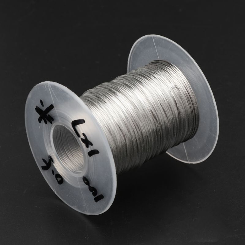 100m 304 Stainless Steel Wire Rope Soft Fishing Lifting Cable 1×7 Clothesline With 30 Aluminum Ferrules E65B