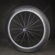 זמן משפט גומת גלגלים אווירודינמי קדמי ואחורי 80mm 2 שנה אחריות נימוק מכריע/ללא פנימית אופני כביש פחמן גלגל 700C אופני כביש