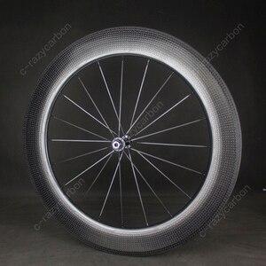 Image 1 - Time Trial Dimple ล้อ Aerodynamic ด้านหน้าและด้านหลัง 80 มม.2 ปี Clincher/ยางถนนจักรยานคาร์บอนล้อ 700C แผนที่จักรยาน