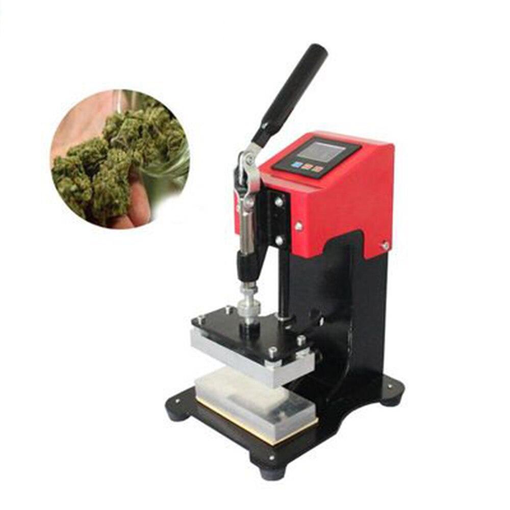 Presse à huile à colophane manuelle avec double plaque chauffante et contrôleur, 6x12cm, pour le travail d'extrusion, 1T