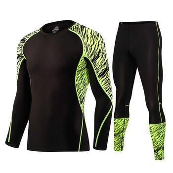 Jesienno-zimowa Outdoor Men zestawy treningowe i treningowe odzież Fitness spodnie sportowe szybkoschnące jesienne kombinezony treningowe i treningowe tanie i dobre opinie ESDY Szybkie suche Terylene Pasuje prawda na wymiar weź swój normalny rozmiar cxjsy