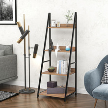 Shelves Ladder-Shelf Unit-Organizer Storage-Rack Bedroom for Office Home Leaning Tiers-Wall