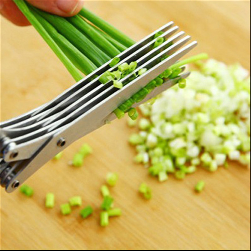 Kitchen gadgets 5 layers kitchen scissor shredded nori chopped scallion cutter vegetable peeler kitchen accessories de cocina