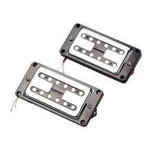 цена на 2Pcs Guitar Double Coil Humbucker Pickups Set For Electric Guitar Parts White With Black Frame