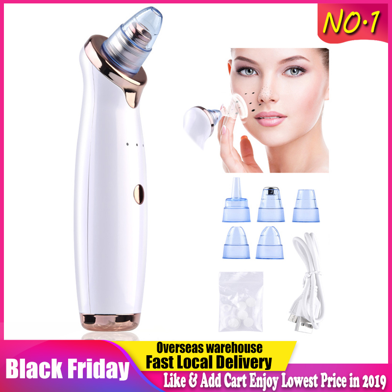Blackhead Remover Face Deep Pore Cleaner Acne Pimple Removal Vacuum Suction Facial SPA Diamond Beauty Care Tool Skin Care