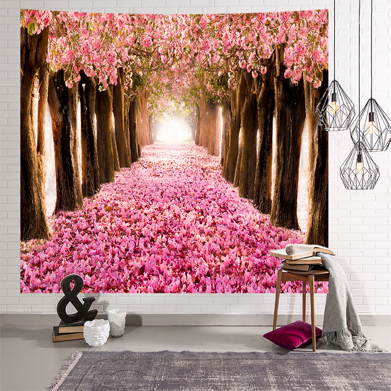 Image 5 - Mandala gobelin indyjski ściany wiszące romantyczne kwiaty wiśni mglisty góra czeski mata do jogi domu artystyczna do sypialni dywan w Gobeliny od Dom i ogród na
