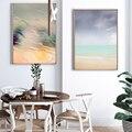 Абстрактная масляная живопись, бежевая тема, холст, живопись, гостиная, коридор, офис, кабинет, домашнее украшение, фреска
