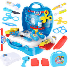 Children Play House Suitcase Model Doctor Toy Doctor Set Storage Box Boys And Girls Hand Toy Gift(China)
