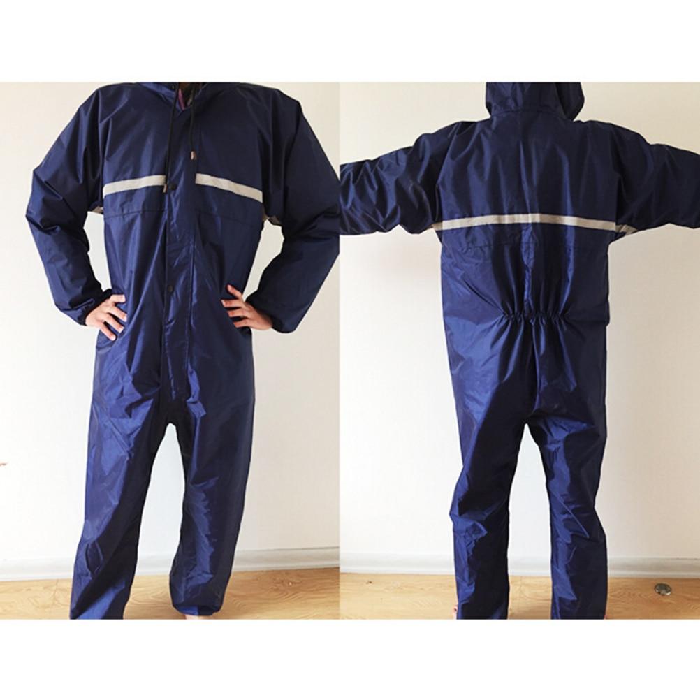 Waterproof Conjoined Raincoats Reflective Overalls Electric Motorcycle Fashion Windproof Raincoat Men Women Rain Suit Rainwear
