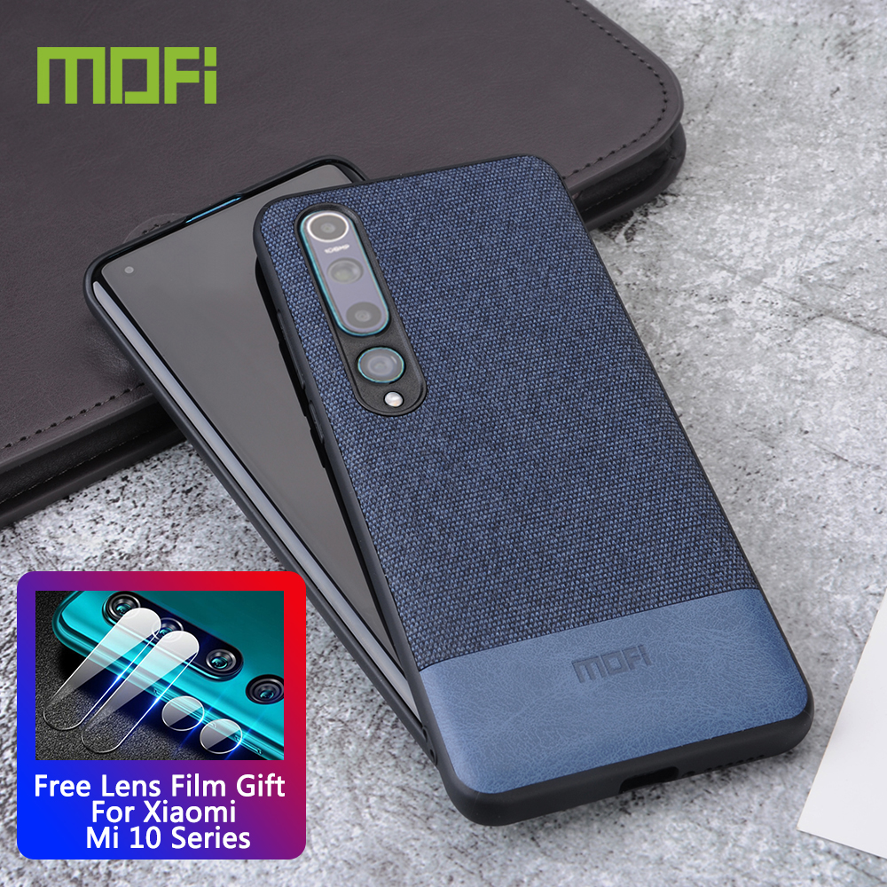for Xiaomi Mi 10 case cover MOFi original xiomi Mi10 Pro shockproof fabric back cover soft silicone coque capas luxury cases|Fitted Cases|   - AliExpress